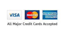 Visa Master Card American Express Accepted